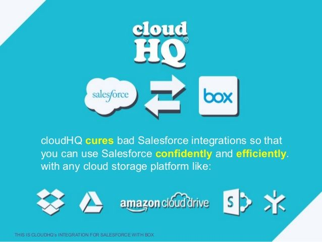 This Is Cloudhq S Integration For Salesforce With Box Http Chq Io 7dy84l Evernote Salesforce Salesforce Integration