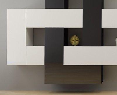 12-teilige designer hochglanz wohnwand briks i modulare anbauwand, Wohnzimmer