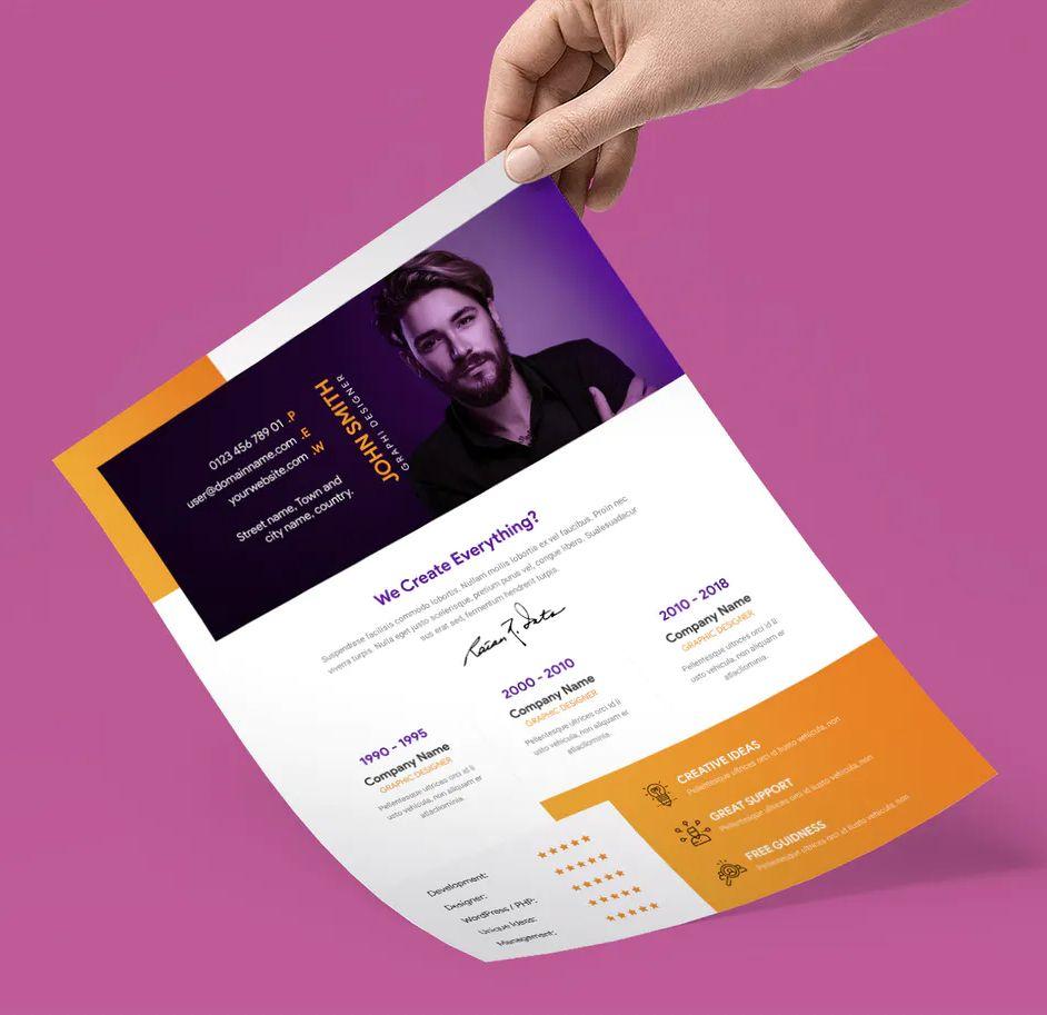 Creative Resume Cv Template Psd Cv Template Creative Resume Resume Cv