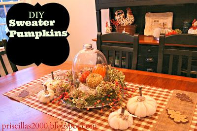 Priscillas: Sweater Pumpkins