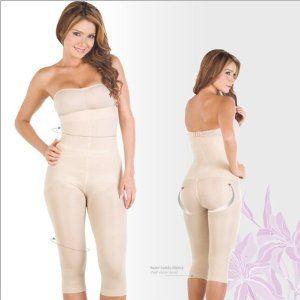 2b77c0cbb8e95 Shapewear Lycra - Nylon Body Braless Strapless. Capri type Bodysuit Waist  Cincher Magic Body Shaper