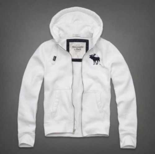 Abercrombie & Fitch Men's Sawteeth Mountain Hoodie White