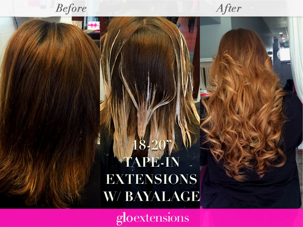 Tape In Hair Extensions Before And After By Glo Extensions Denver