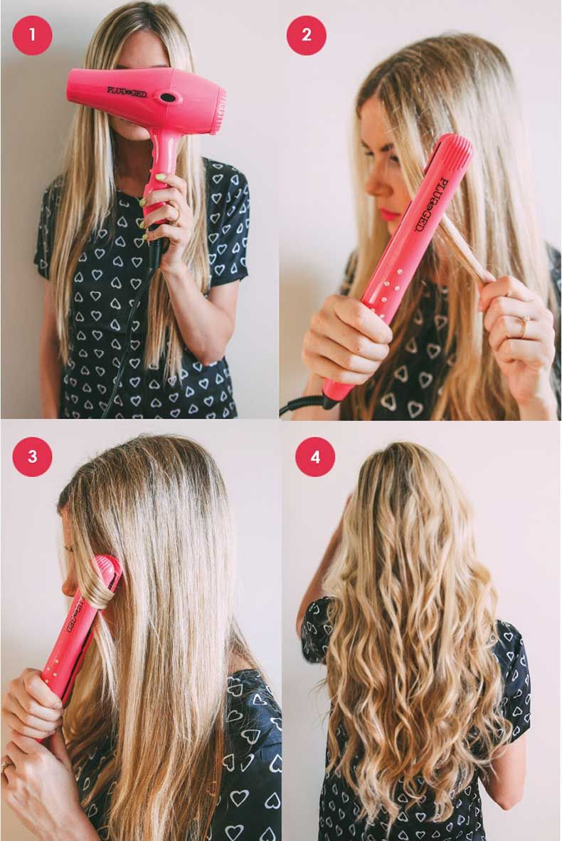 Cómo Hacer Ondas En Tu Pelo Con La Plancha Wavy Hair With Straightener Thin Hair Care Wavy Hair Overnight