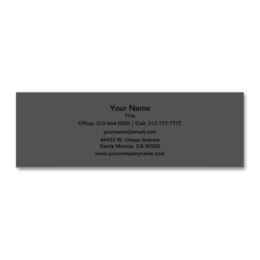 Charcoal gray solid color customize it mini business card reheart Image collections