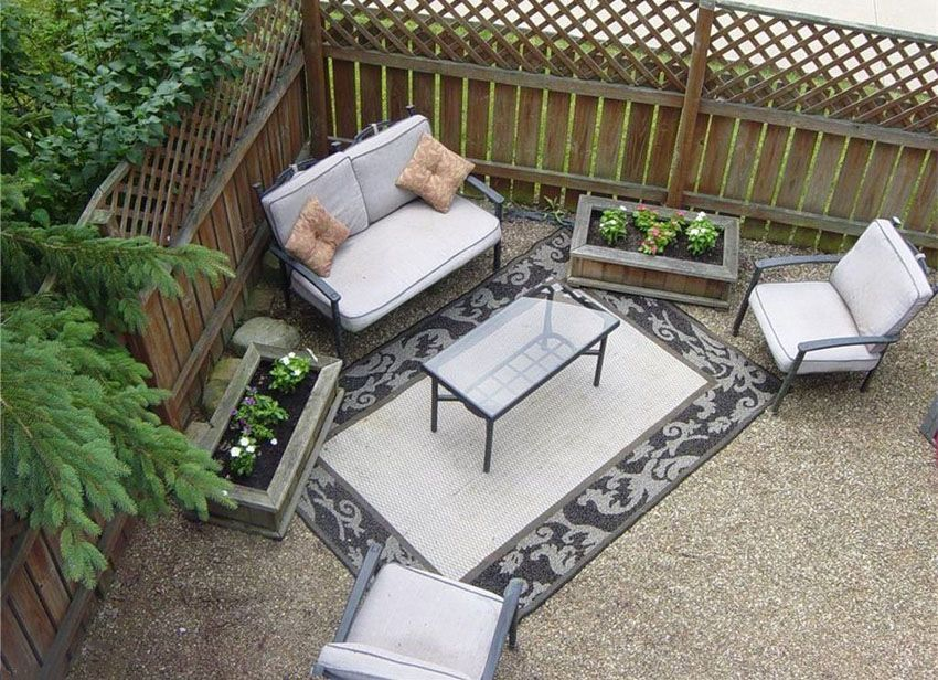 Pea Gravel Epoxy Patio Area Rug