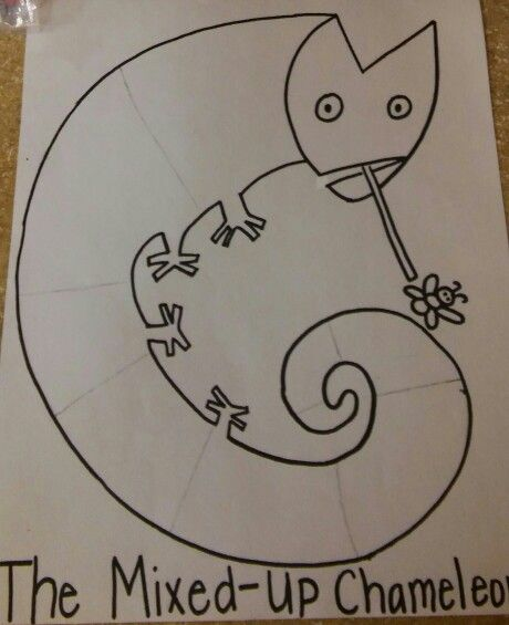 The Mixed Up Chameleon Template Pre K Summer Fun Mixed Up