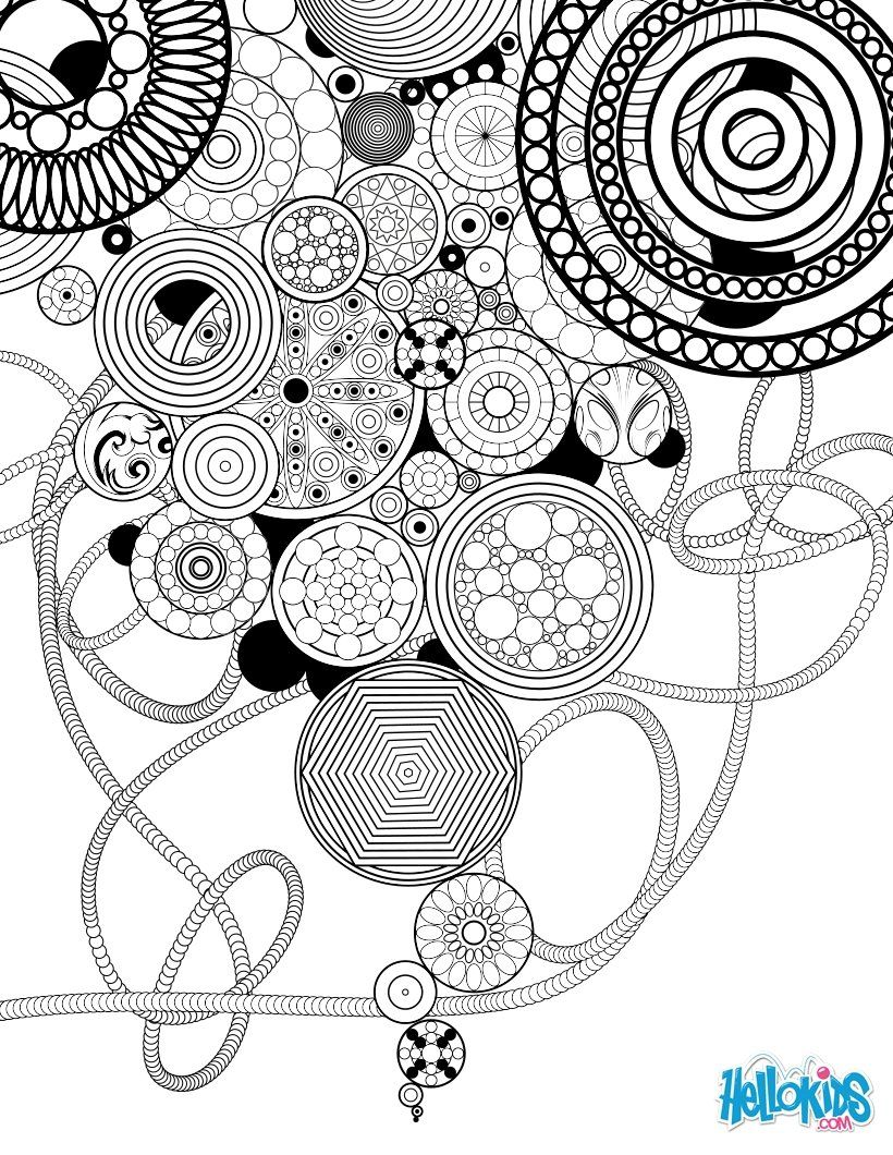 Colouring book on online - Circles And Rosettes Coloring Page