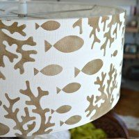 Cute stenciled lampshade