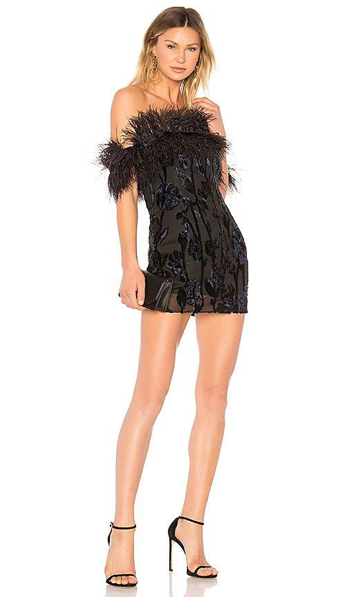 Shop for Chrissy Teigen x REVOLVE Jet Lagged Mini Dress in Black ...