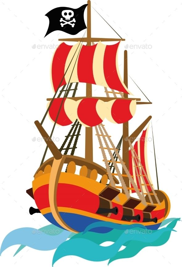 Funny Pirate Ship Pirate Ship Boat Cartoon Travel Toys