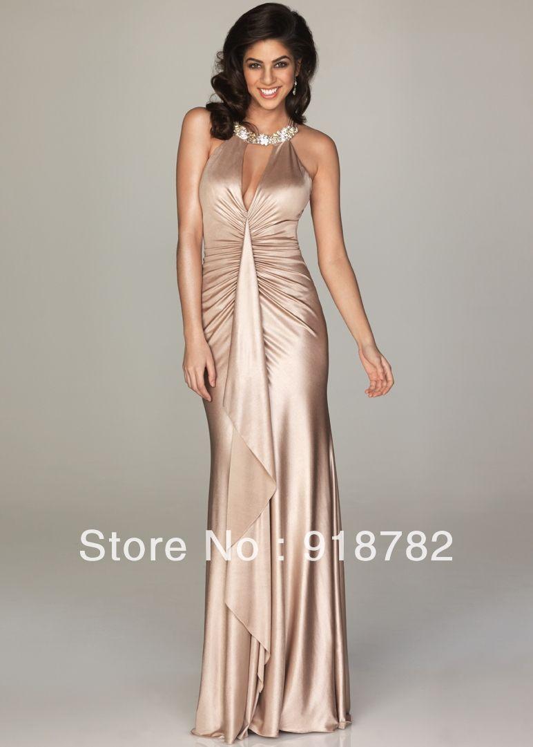 Bebe Long Dresses | ... gold Wholesale Sheath Beaded Long Evening ...