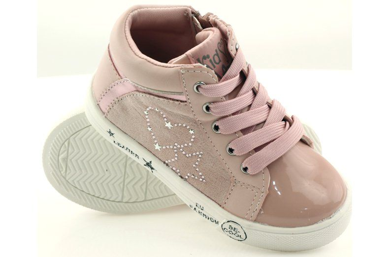 American Club Sportowe Dziewczece Serduszko American Rozowe Wedge Sneaker Shoes Baby Shoes