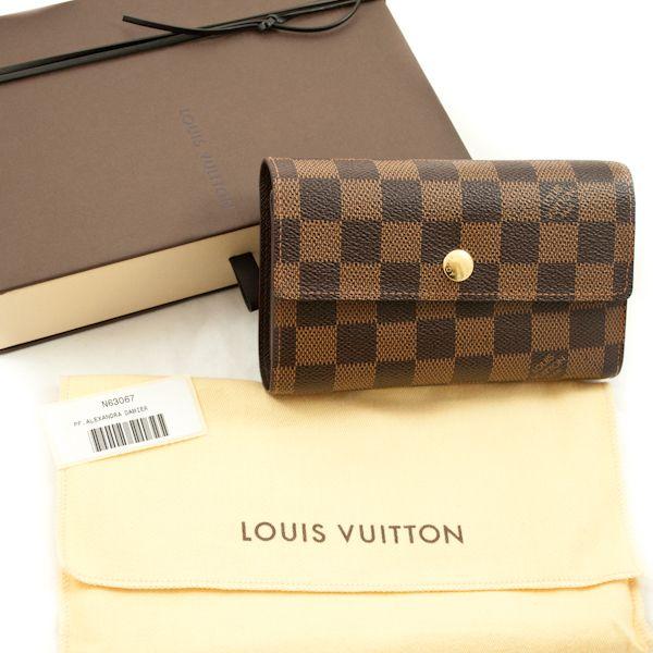 Louis Vuitton Damier Canvas Alexandra Wallet | Couture Corner