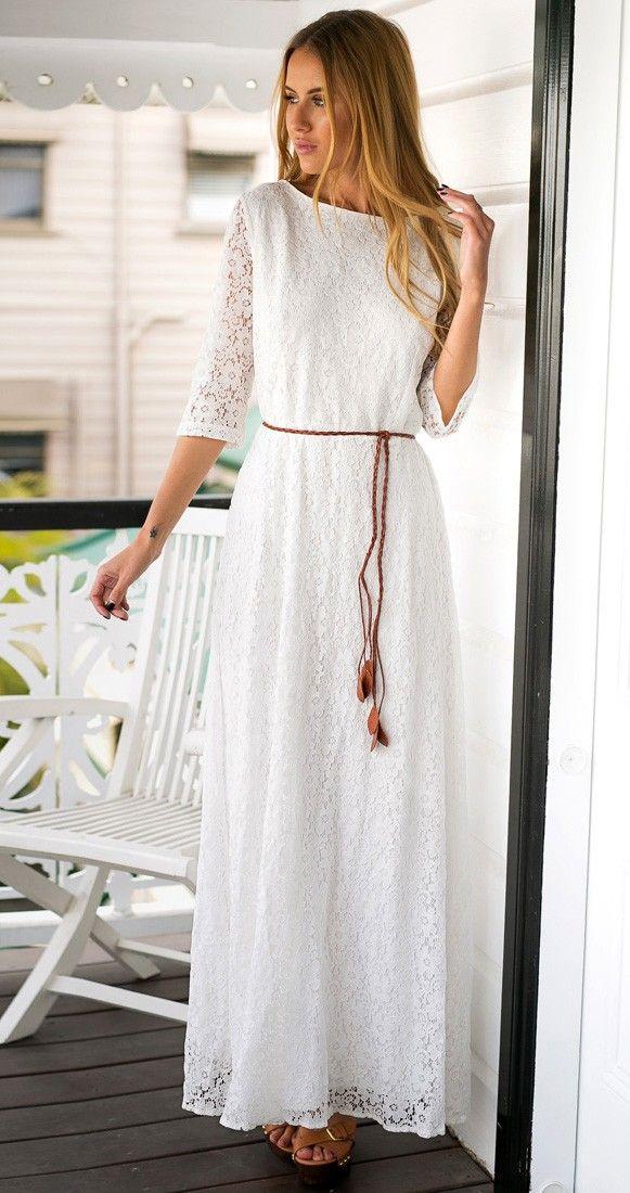 Long White Casual Maxi Dresses