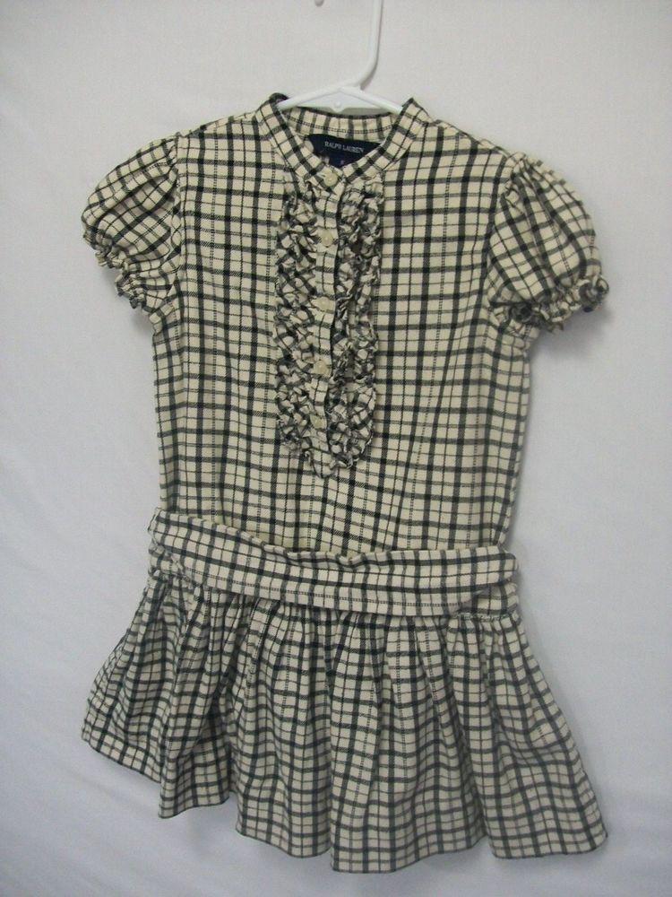 c41542aa8c32 RALPH LAUREN KID GIRL SIZE 5 DRESS 100% COTTON PLAIDS   CHECKS ...