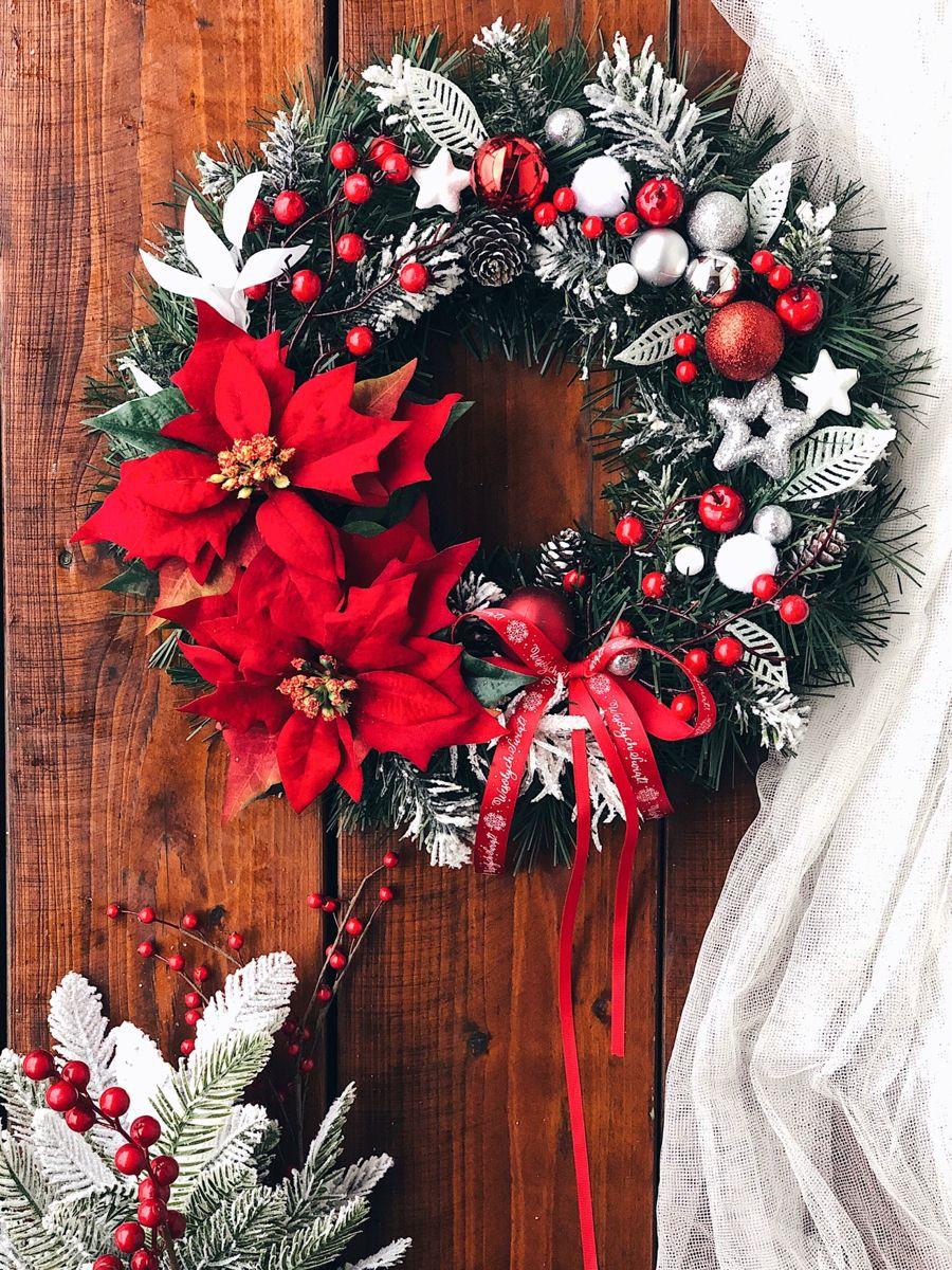 Wianek Swiateczny Kreatywnieidomowo Pl Christmas Wreaths Fall Wreath Halloween Wreath