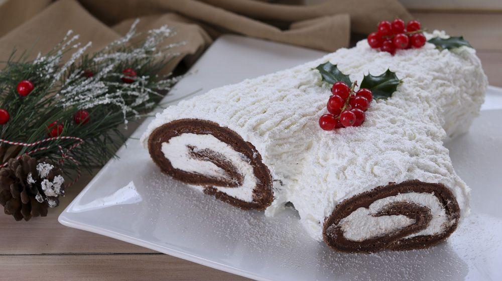 Tronchetto Di Natale Menu Di Benedetta.Tronchetto Innevato Di Natale Ricetta Facile