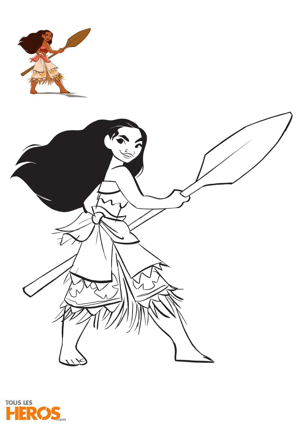 Coloriez votre nouvelle héro¯ne Disney préférée 5 nouveaux coloriages Vaiana et Maui