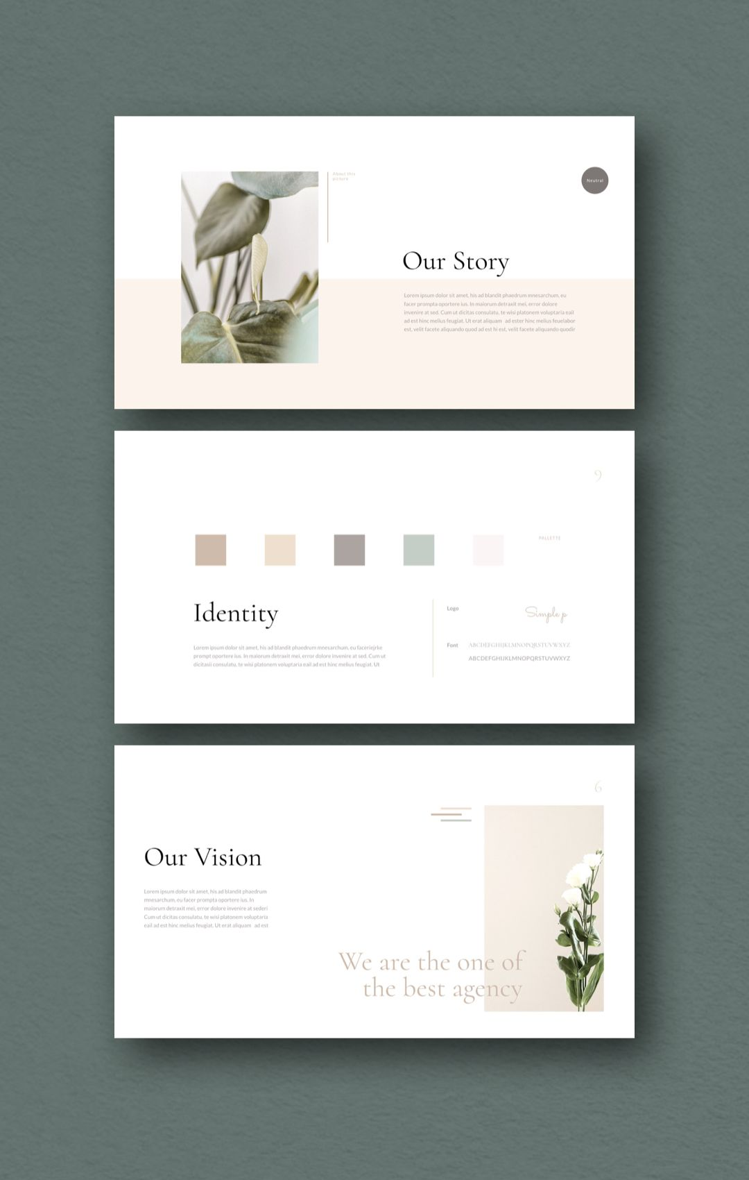 Simple Presentation Template Ppt Powerpoint Pitchdeck Keynote