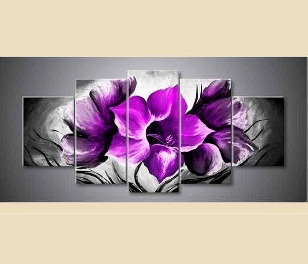 peinture d 39 une grande fleur violette peinte la main tableaux pinterest peinture. Black Bedroom Furniture Sets. Home Design Ideas