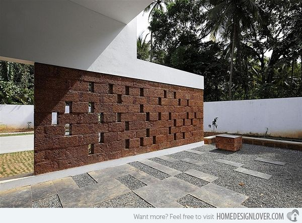 Intimidating Running Wall Residence In India