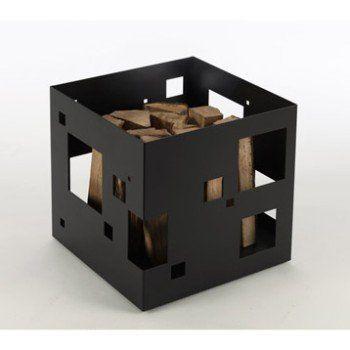Panier à Bûches Acier Noir Atelier Dix Neuf Citybox Leroy