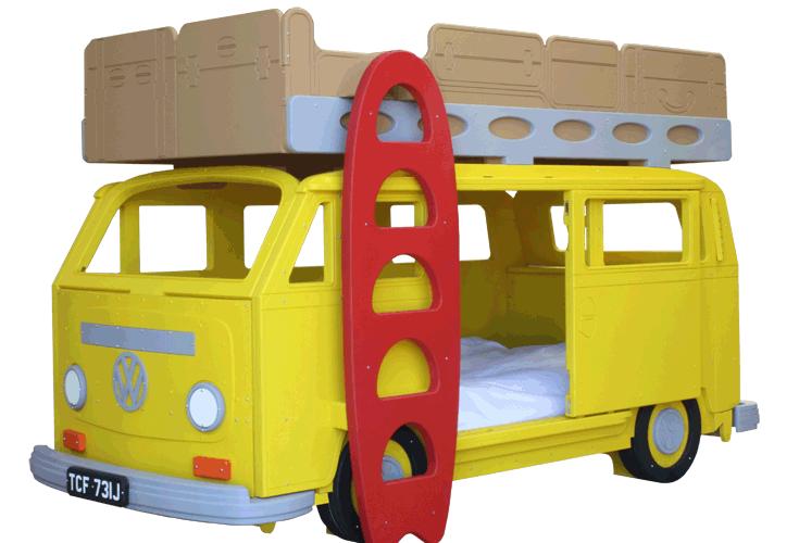 Kinderbett selber bauen auto  Kinderbett - Children Kids Bed VW T2 Fun Spass Idee Selber Bauen ...