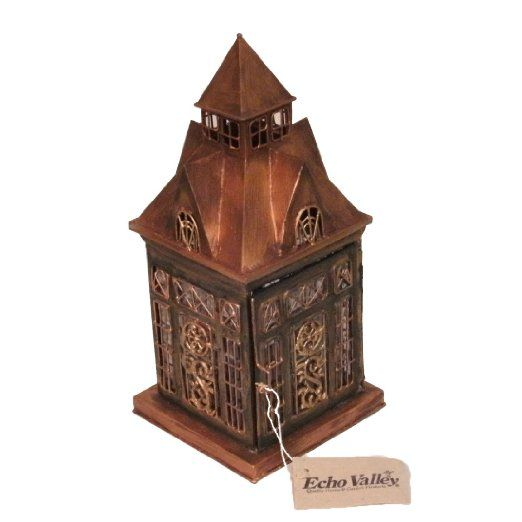 This lantern will certainly add charm to your home or garden. When it is lite up the details in the windows are illuminated.Echo Valley 3449 Ellington lantern
