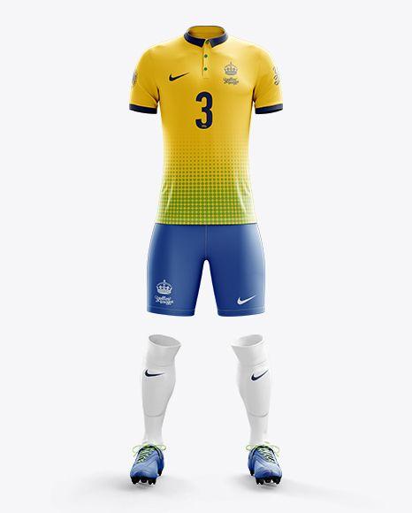 Download Men S Full Soccer Kit With Polo Shirt Mockup Front View In Apparel Mockups On Yellow Images Object Mockups À¹€à¸ª À¸à¸ À¸¬à¸²