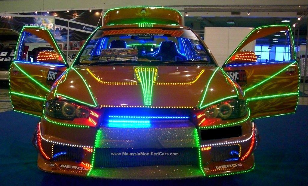 Modified Proton Wira With Super Lighting Proton Wira Malaysia