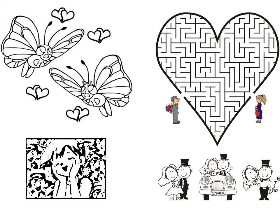 Diy livret de coloriage mariage - Coloriage mariage ...