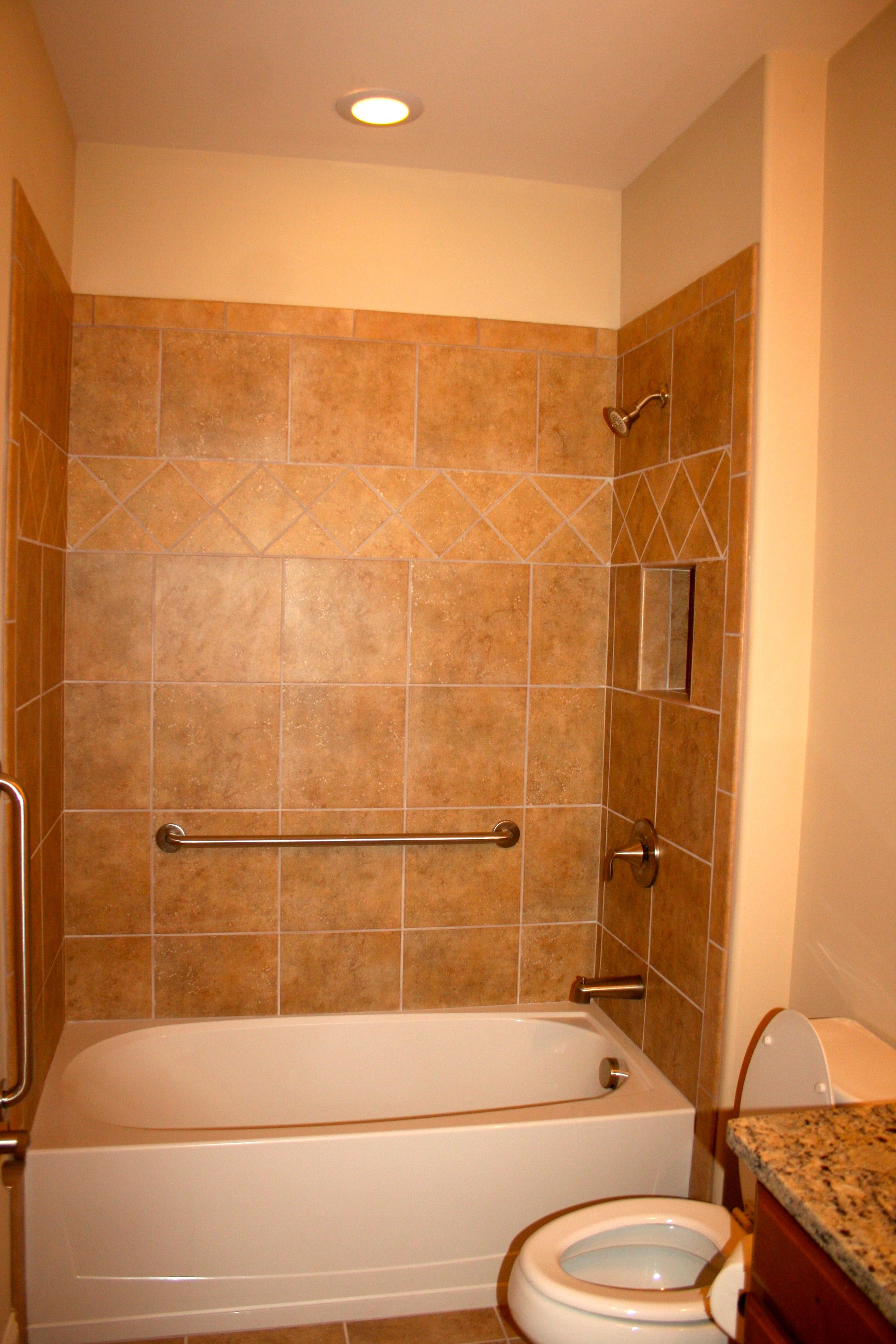 TILE: Samara Altai Gold with Fawn Grout (standard). ACCENT ...