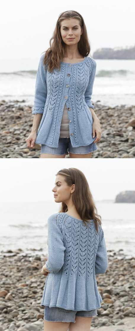 Belle Poque Lace Cardigan Free Knitting Pattern Knitting And