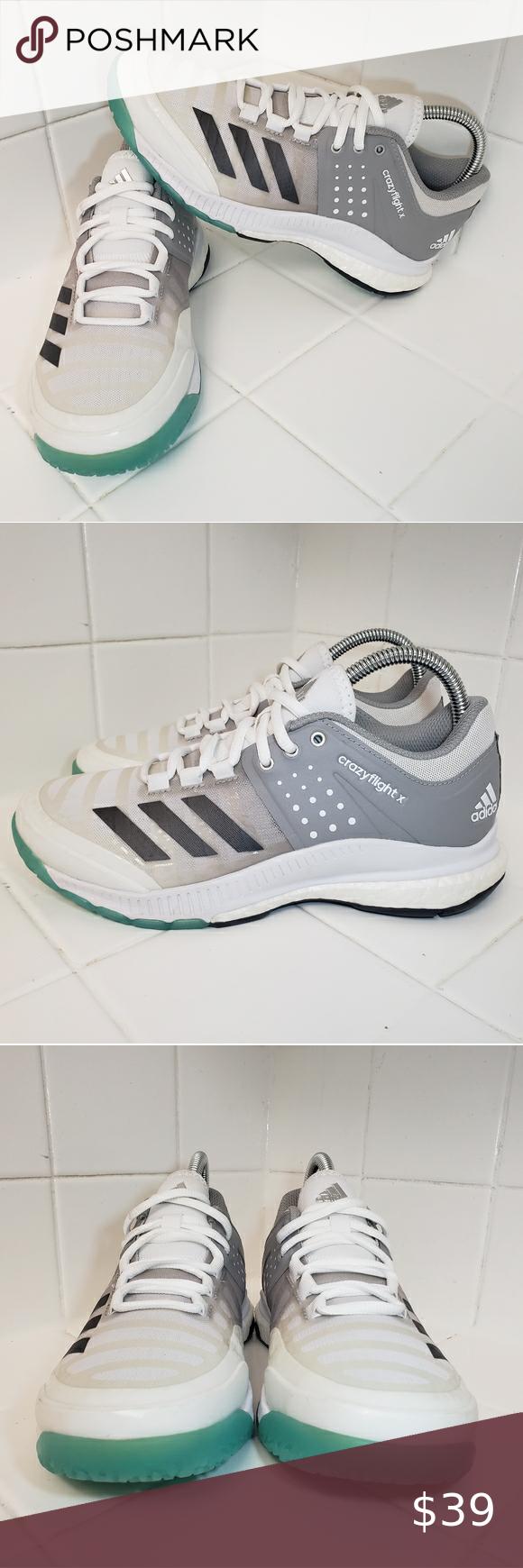 Adidas Crazyflight X Womens Volleyball Shoes 6 5 In 2020 Volleyball Shoes Shoes Volleyball