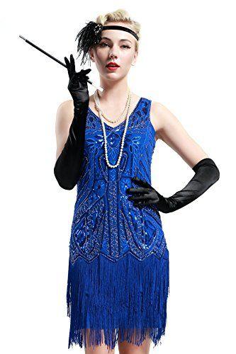 1920s Flapper dress Charleston da Donna Costume Donna Costume vestito Gangster