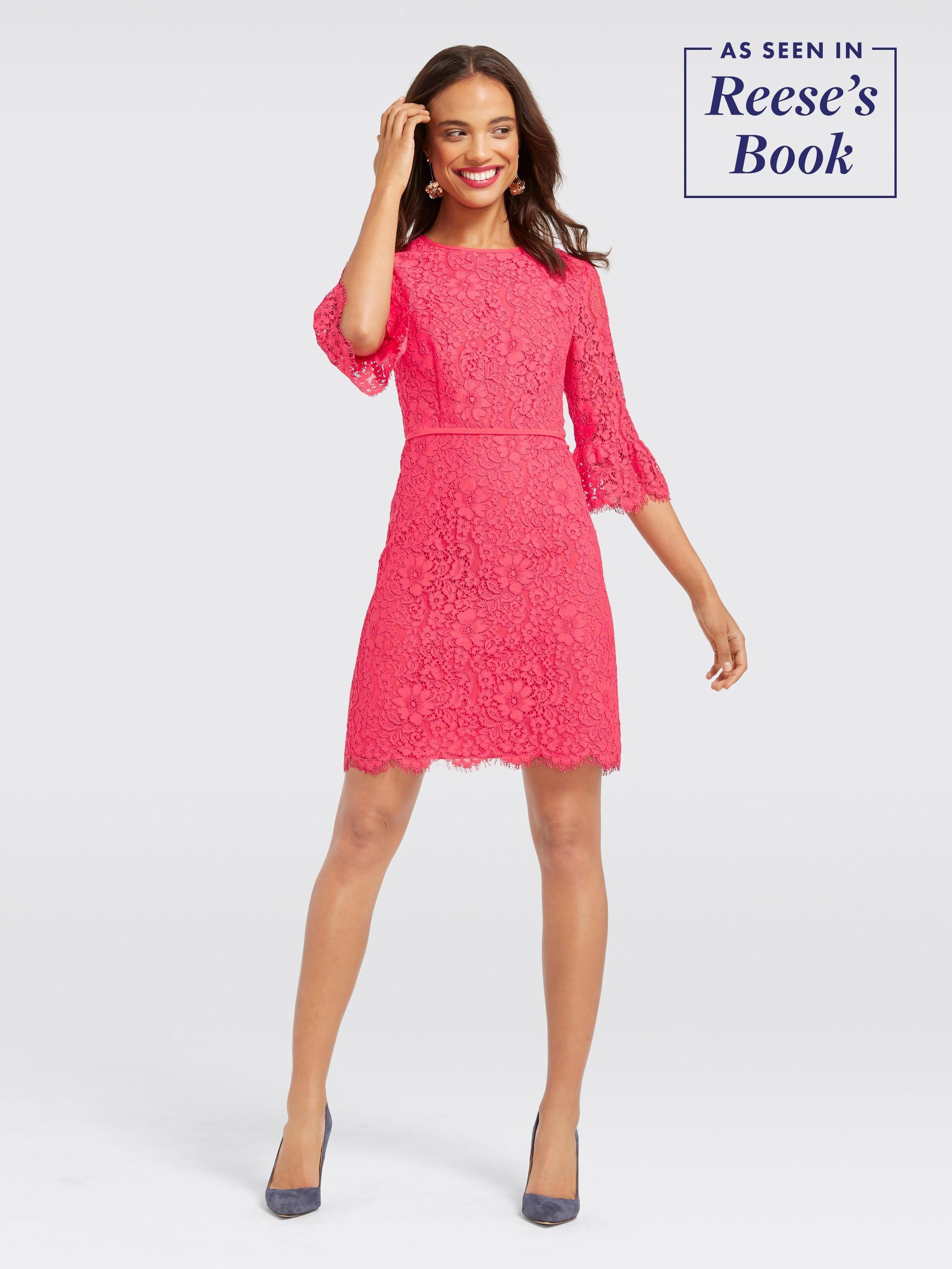 e5b19b0440a9f Draper James - Lace Bell-Sleeve Dress | Products in 2019 | Dresses ...