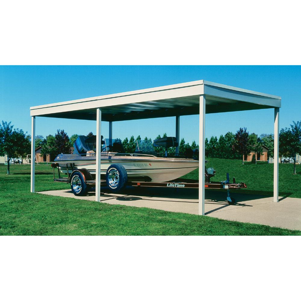 Arrow Freestanding Patio Cover/Carport 10ft. x 10ft ...