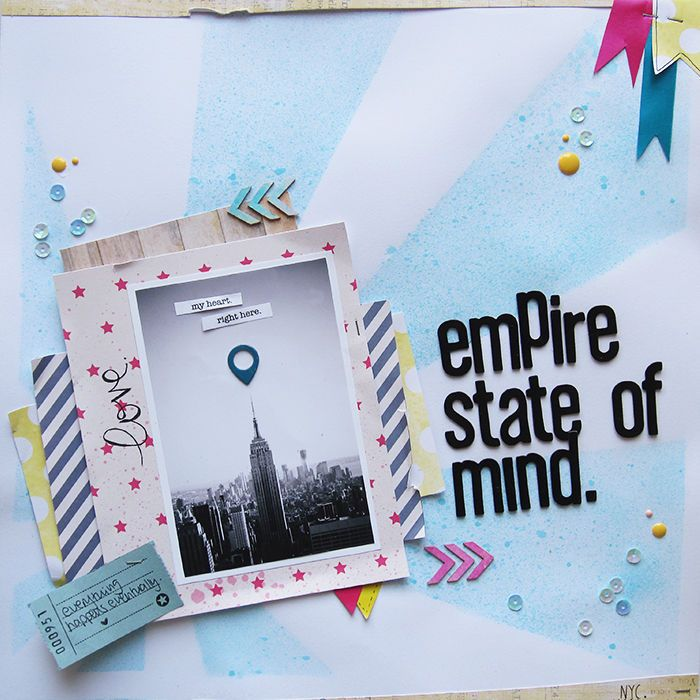 Empire State of Mind - love the misted mask in the background