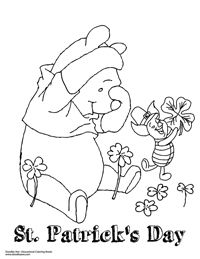 St Patrick S Day With Winnie The Pooh And Piglet Paper Wall Art Doodle Coloring Coloring Books