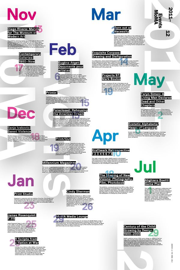 Events MoMA - andrewlu Poster Design Pinterest Moma - event calendar