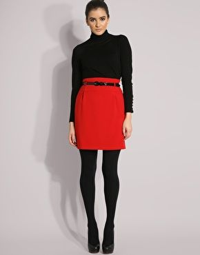 Black A Line Denim Skirt 2017 | Dress Ala - Part 890