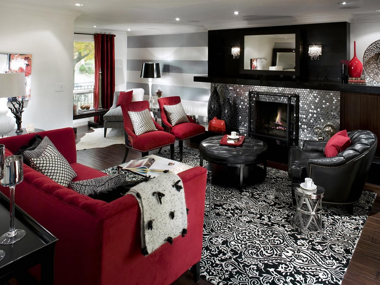 Affordable 25 Black And Red Home Interior Design That Will Inspire You Teracee Living Room Decor