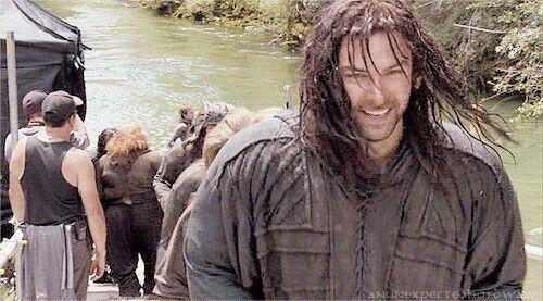Aidan Turner all wet