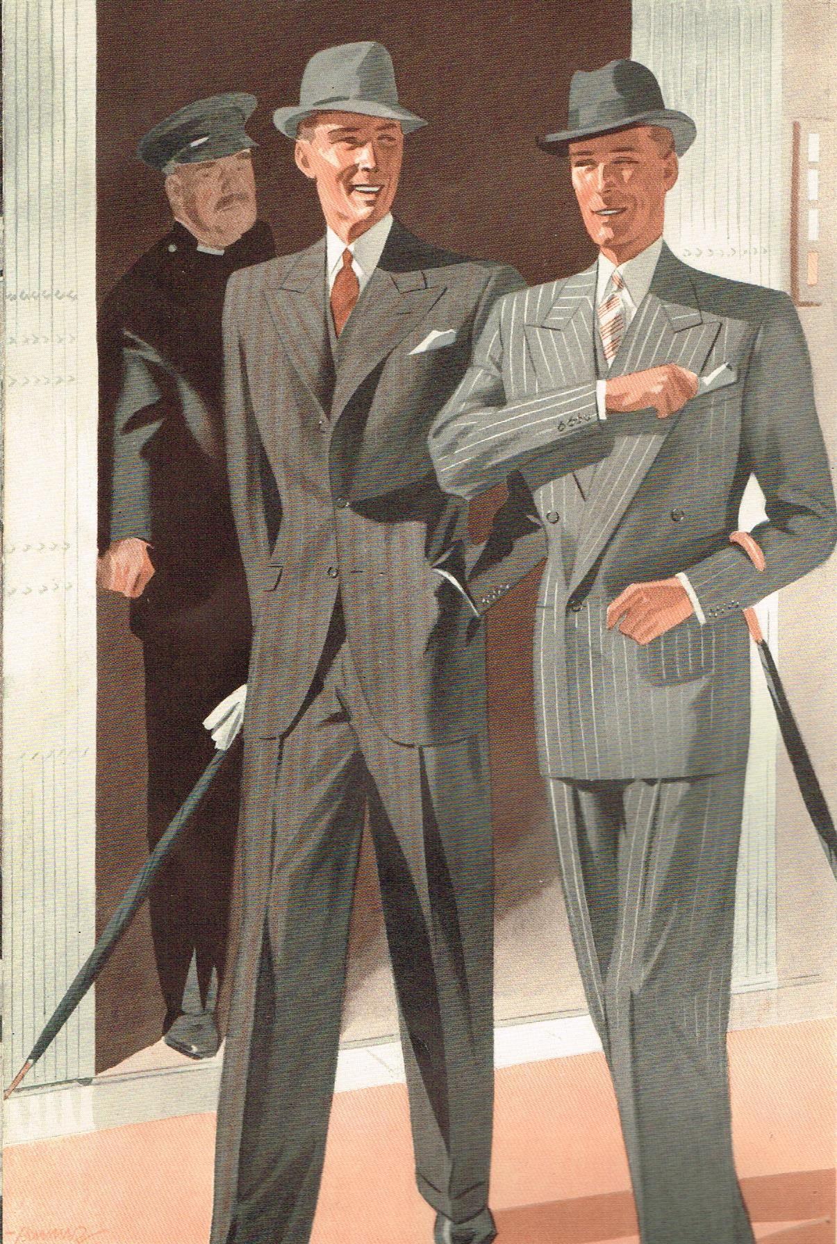 The Workshop Mens Fashion Illustration 1940s Mens Fashion Fashion Illustration Vintage