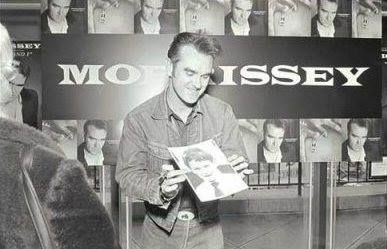 Morrissey smiling