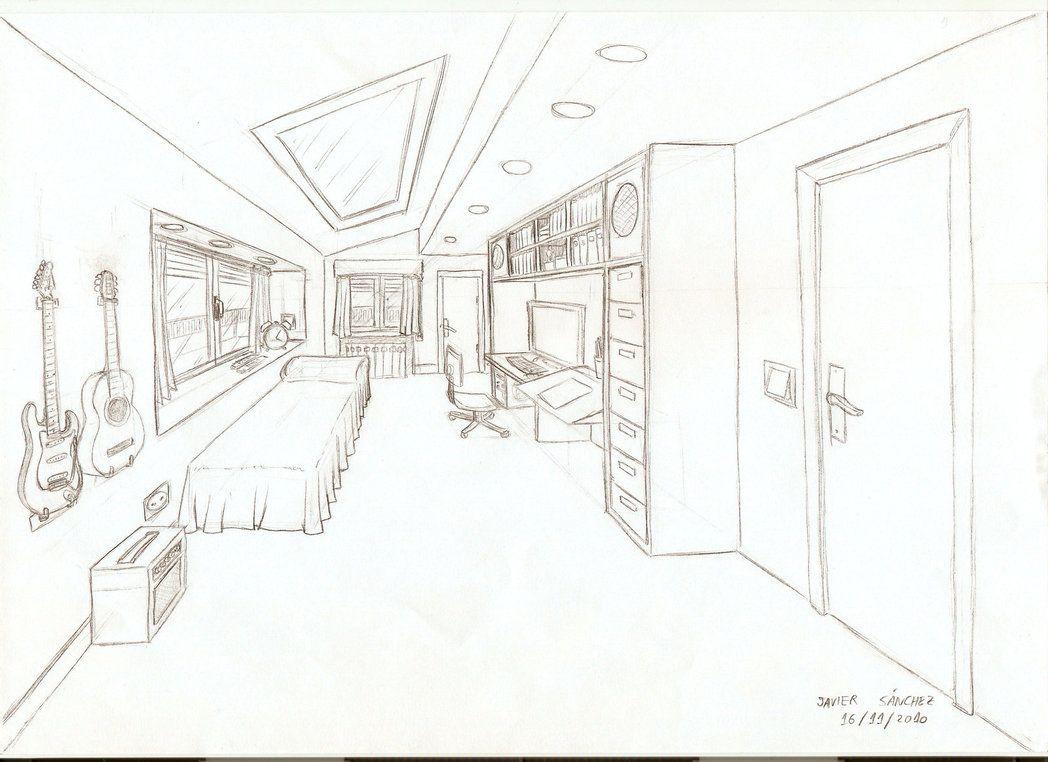 Dibujo de una habitacion con un punto de fuga buscar con for Habitacion dibujo