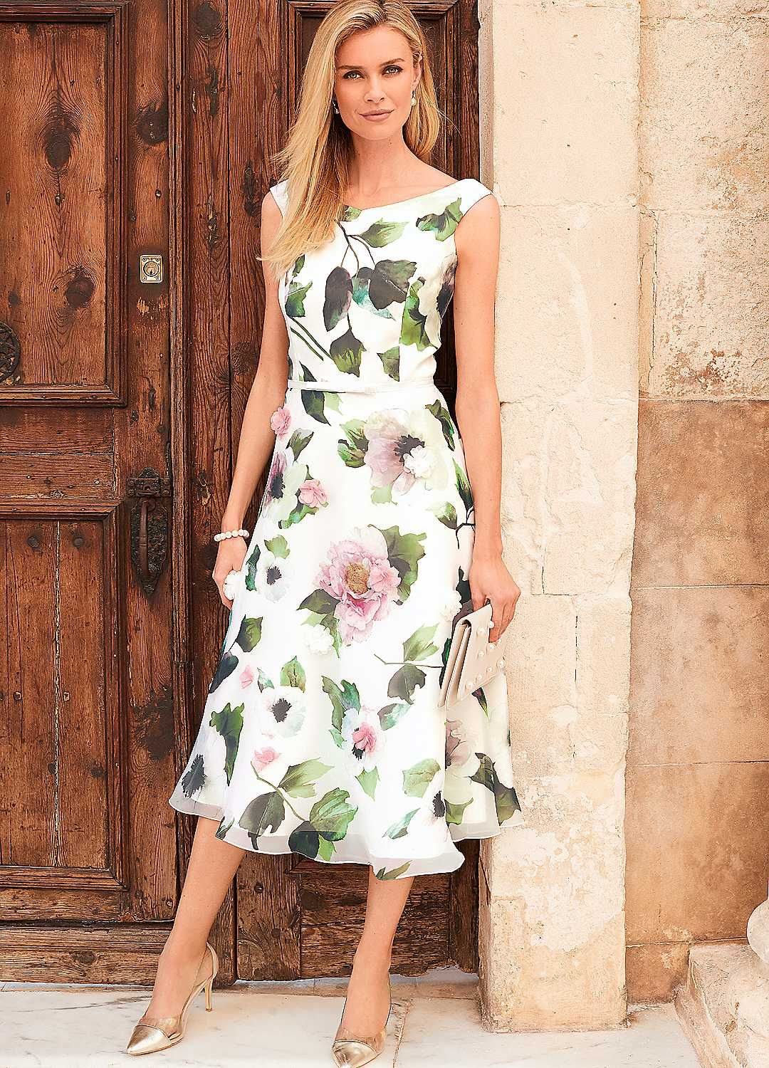 Floral Organza Prom Dress Occasion dresses, Mother of