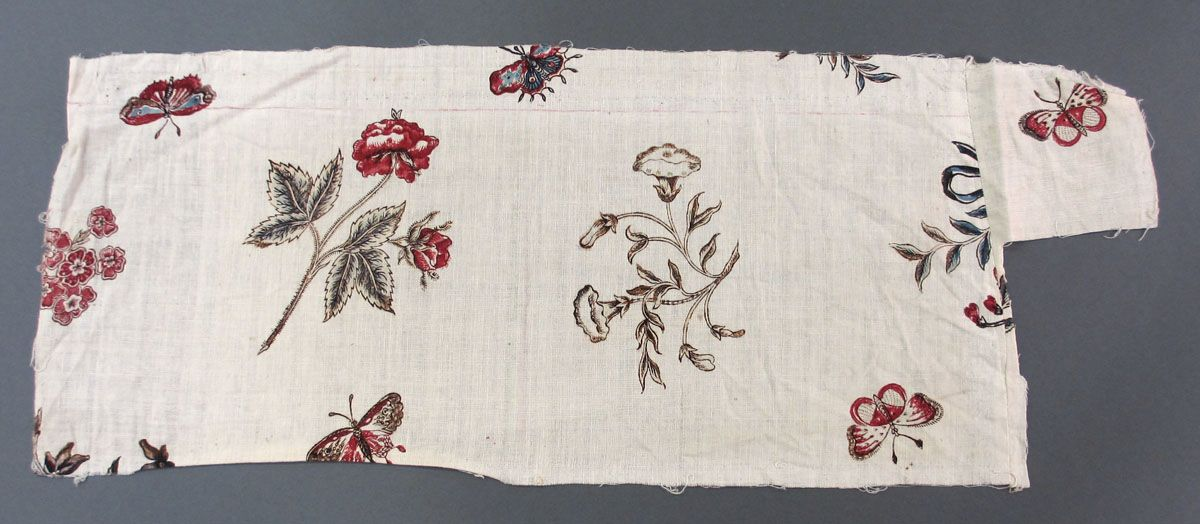 Textile, Block printed cotton, 1785-1800, France