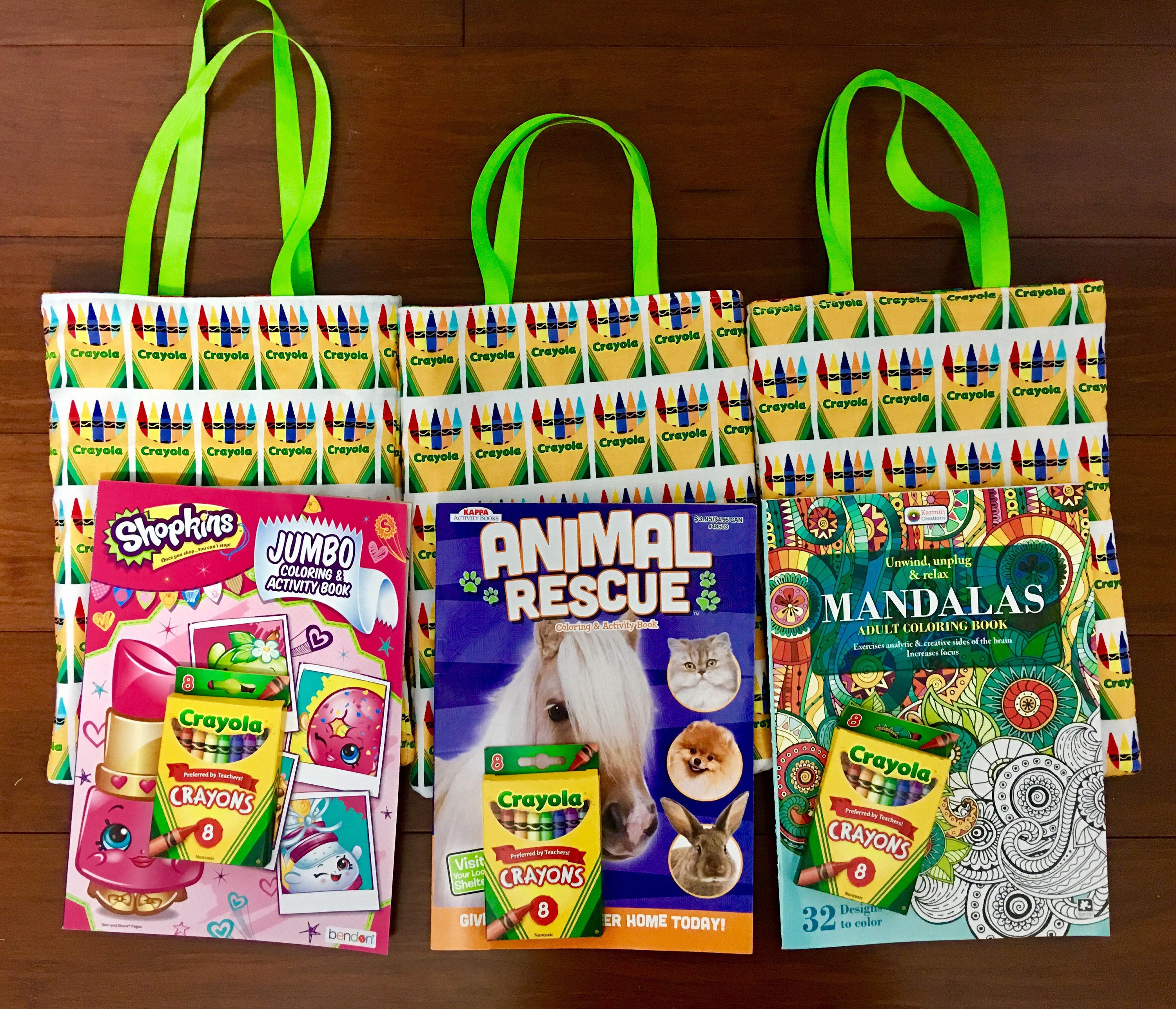Coloring book bag with free crayons/ free coloring book 81/2\
